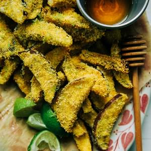 Crispy Eggplant Polenta Bites With Honey + Lime