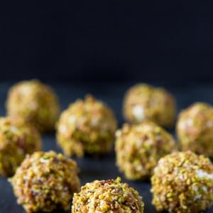 Bacon Pistachio Goat Cheese Balls