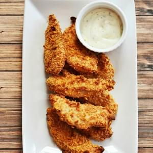 How To Make 2 Ingredient Oven Fried Chicken Tenders