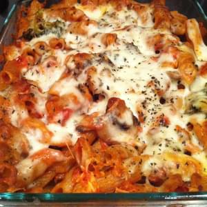 Chicken, Vegetable and Pasta Bake