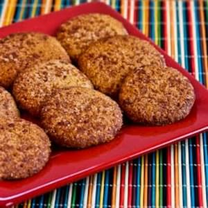 Low-Sugar or Sugar-Free Almond Flour Snickerdoodle Cookies (also Gluten-Free)