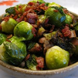 Bacon-Braised Brussel Sprouts