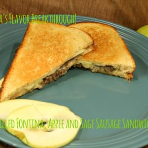 Grilled Fontina, Apple and Sage Sausage Sandwiches!