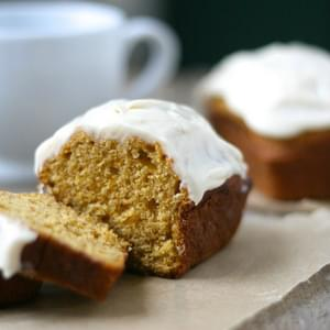 Pumpkin Mini Loaves with Cinnamon Cream Cheese Frosting