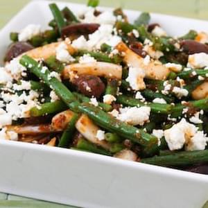 Green Bean Salad with Greek Olives and Feta Cheese
