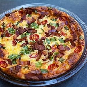 Cheesy Crustless Quiche