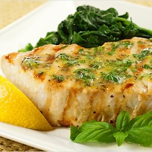 Grilled Swordfish with Lemon-Basil Butter
