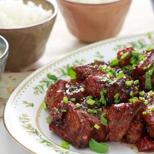 Braised Pork Spare Ribs With Black Bean And Garlic Sauce