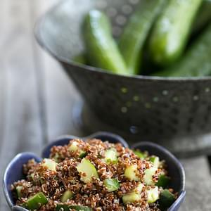 Cucumber Mint Quinoa Salad