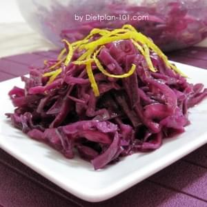 Red Cabbage Slaw with Mustard Vinaigrette (for Atkins Diet Phase 1)