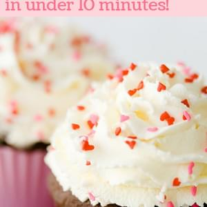 Valentine's Day Cupcakes for Two in Under Ten Minutes