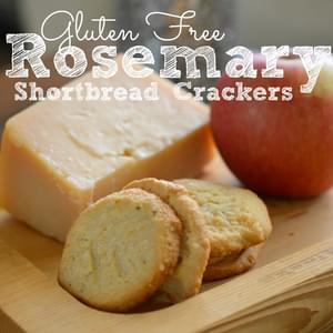 Gluten Free Rosemary Shortbread Crackers