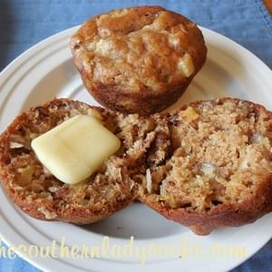 PINEAPPLE, BANANA AND COCONUT MUFFINS