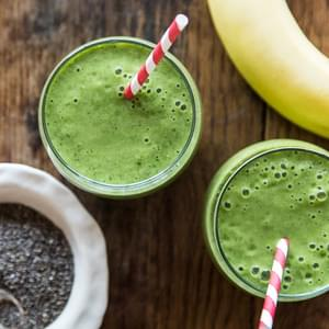 Banana, Chia and Spinach Smoothie