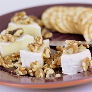 Brie with Walnuts and Honey