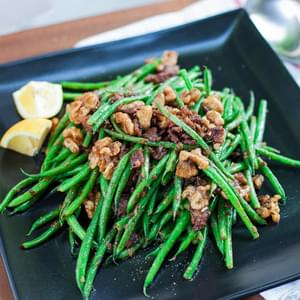 Green Bean + Bacon Salad