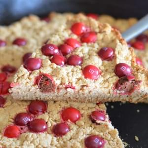 Candy Apple M&M's Skillet Cookie