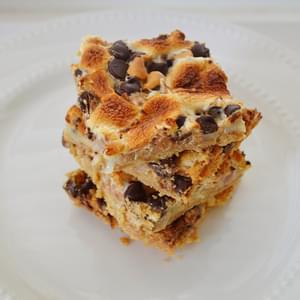 Peanut Butter Marshmallow Magic Bars