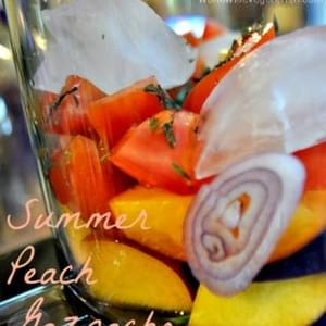 Summer Peach Gazpacho