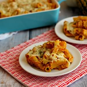 Cheesy Pumpkin Pasta Bake
