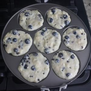Blueberry and Chocolate Chip Banana Pancakes