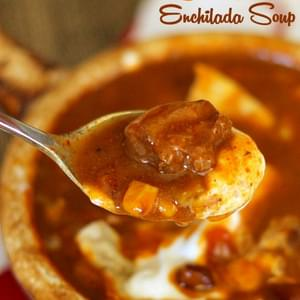 Beef Enchilada Slow Cooker Soup