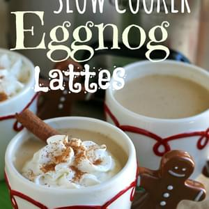 Slow Cooker Egg Nog Lattes