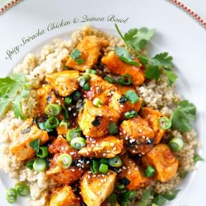 Spicy Sriracha Chicken & Quinoa Bowl