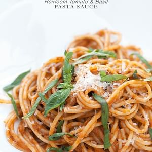 Heirloom Tomato and Basil Pasta Sauce