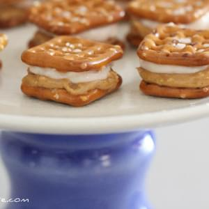 Sweet Peanut Butter and Creamy Jelly Pretzel-wiches