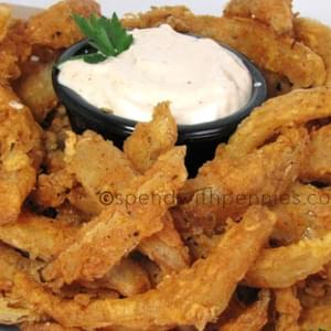 Blooming Onion Bites with Dipping Sauce!