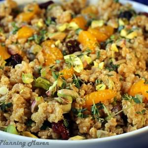 Farro 'n Quinoa Salad with Dried Cherries and Pistachios