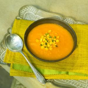 Fresh Carrot and Corn Soup