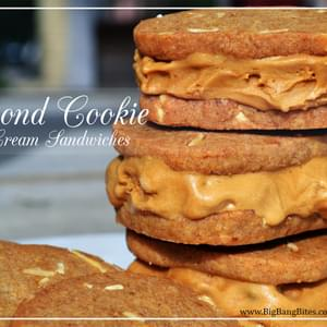 Almond Cookie Ice Cream Sandwiches