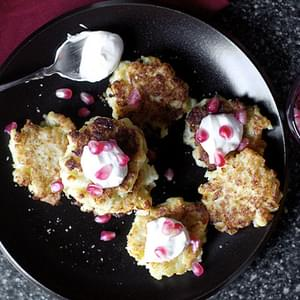 Cauliflower-feta Fritters With Pomegranate