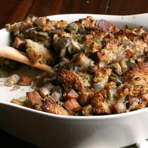Mushroom and Sausage Sourdough Stuffing