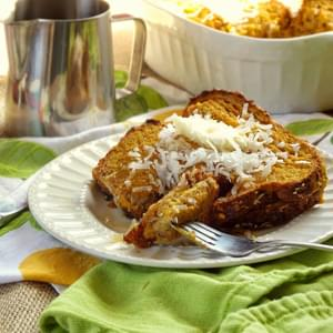 Vegan Mango Baked French Toast