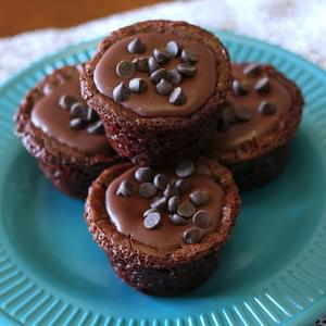 Gluten Free Vegan Frosted Brownie Bites