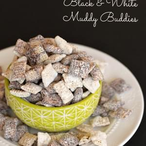 Black and White Chocolate Muddy Buddies