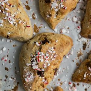 Chocolate Chip Peppermint Scones