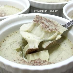Steamed Cinnamon Coconut Milk Egg Custard (for Atkins Diet Phase 1)