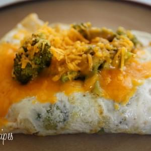 Broccoli and Cheddar Egg White Omelet