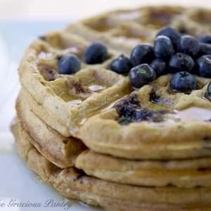 Clean Eating Lemony Blueberry Waffles