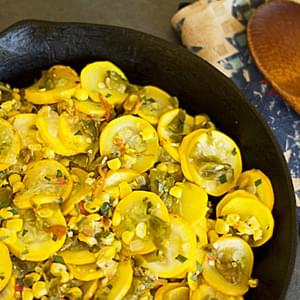 Calabacitas Recipe (Squash, Corn, and Green Chile)
