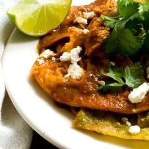 Chilaquiles With Ancho Tomatillo Salsa