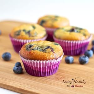 Blueberry Muffin (Gluten Free, Nut Free, Dairy Free, Low Carb)