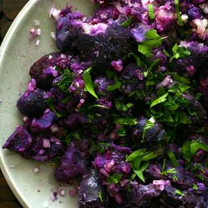 Fork-crushed Purple Potatoes