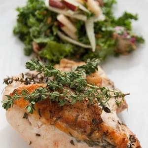 Weeknight Garlic and Herb Crispy Roast Chicken Breasts