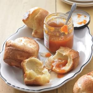 Classic Popovers with Fruit Jam