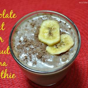Chocolate, Peanut Butter, Coconut, Banana Smoothie